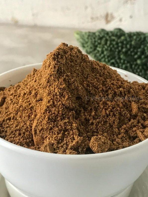 Spiced bittergourd powder