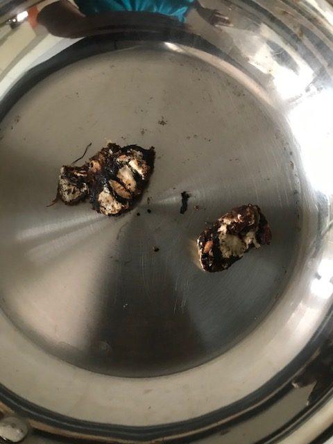 roasting tamarind for podi