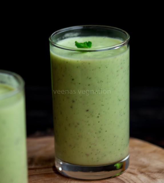Avocado cucumber smoothie