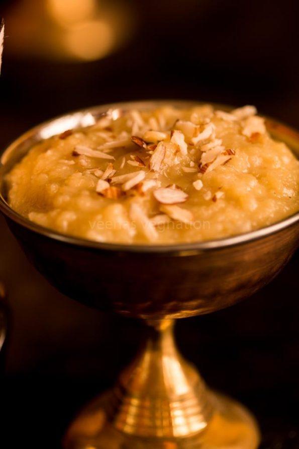 Apple almond Halwa