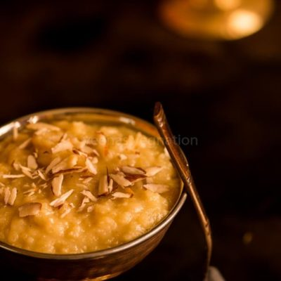 apple almond halwa