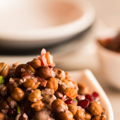 Chickpea pomegranate salad