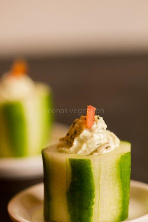 cucumber paneer bites