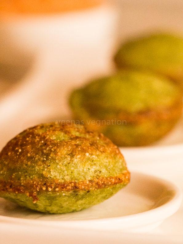 green moong rava appe