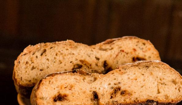 whole wheat sundried tomato sourdough bread