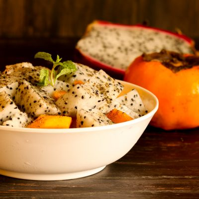 Dragon fruit persimmon chat
