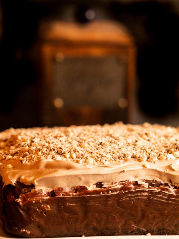 eggless chocolate poke cake