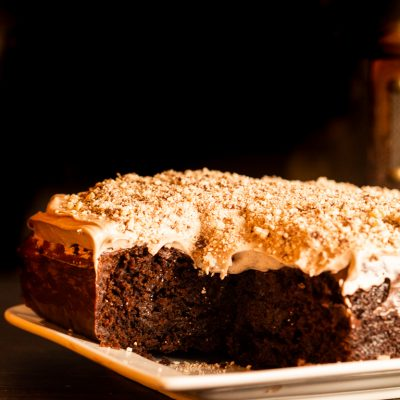 eggless chocolate poke cake