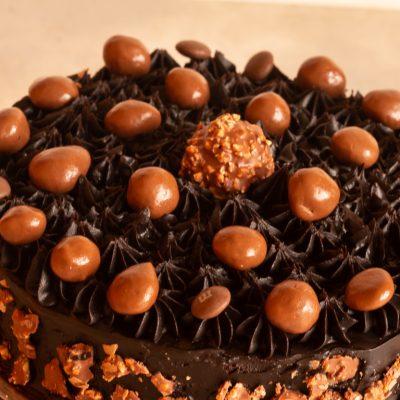 Egg free ferroro rocher cake