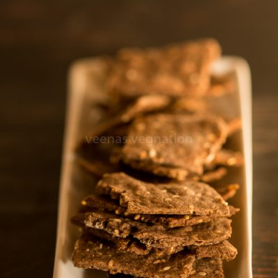 whole wheat ragi crackers