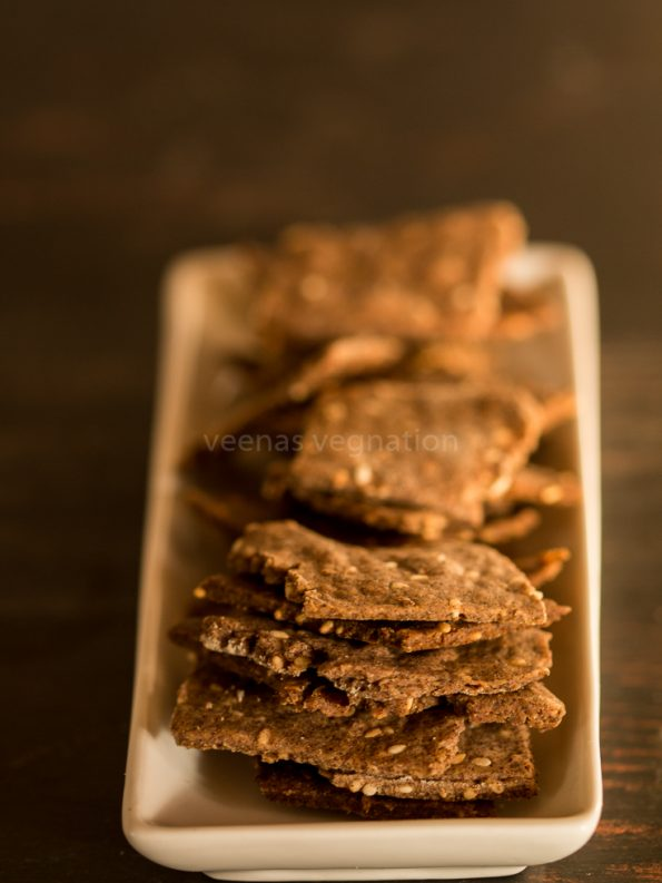 whole wheat ragi crackers
