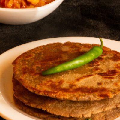 Healthy potato stuffed bajra paratha