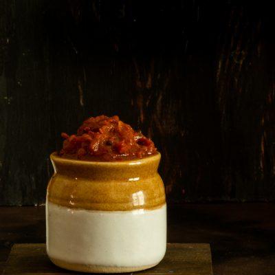 spicy tomato thokku