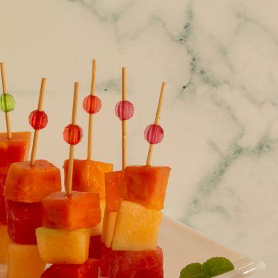 Summer fruits on a stick