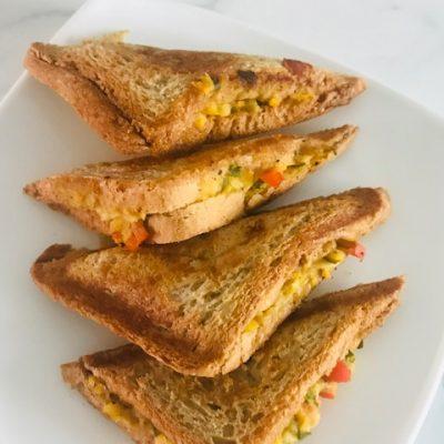 Chickpea salad grilled sandwich