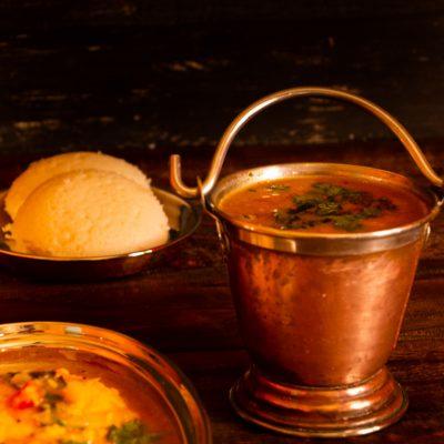 Hotel style tiffin sambar