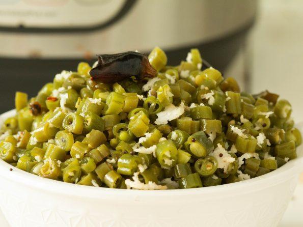 Instant pot green beans poriyal
